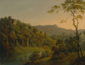 Art Prints of Looking Toward Black Rock Escarpment by Joseph Wright of Derby