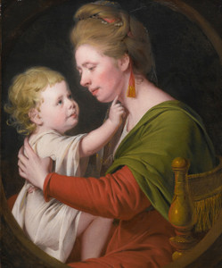 Art Prints of Portrait of Jane Darwin and Her Son William by Joseph Wright of Derby