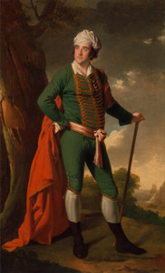 Art Prints of Portrait of a Man Known as the Indian Captain by Joseph Wright of Derby