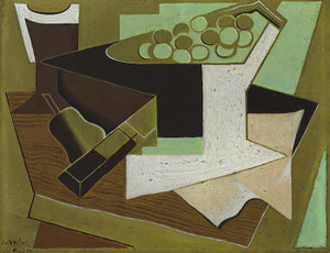 Art Prints of A Bunch of Grapes and a Pear by Juan Gris
