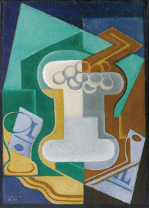 Art Prints of Glass and Fruits by Juan Gris