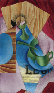 Art Prints of Coffee and Newspaper by Juan Gris
