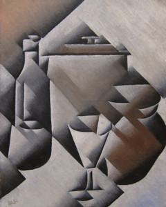 Art Prints of Glass and Bottle by Juan Gris