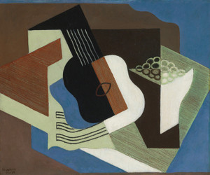 Art Prints of Guitar and Compote by Juan Gris