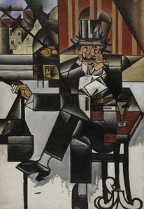 Art Prints of Man in a Cafe by Juan Gris