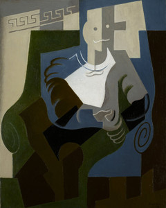 Art Prints of Seated Harlequin by Juan Gris