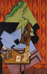 Art Prints of Violin and Playing Cards on a Table by Juan Gris