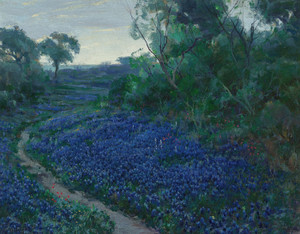Art Prints of Bluebonnets in the Misty Morning by Julian Onderdonk