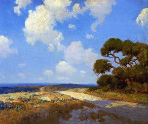 Art Prints of Hill Country Lane 1911 by Julian Onderdonk