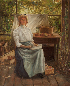 Art Prints of Portrait of Eleanor Onderdonk by Julian Onderdonk