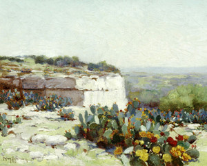 Art Prints of Prickly Pear in Blossom by Julian Onderdonk