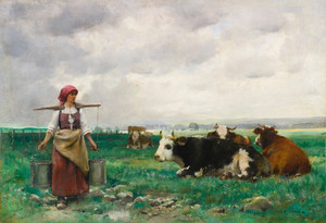 Art Prints of The Milkmaid by Julien Dupre