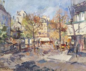 Art Prints of Autumn in Paris by Konstantin Alexeevich Korovin