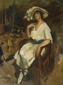Art Prints of Portrait of Madame Maria Rubin by Konstantin Alexeevich Korovin