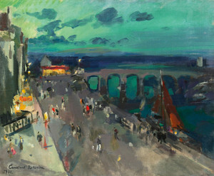 Art Prints of Seafront Promenade by Konstantin Alexeevich Korovin