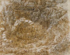Art Prints of A Deluge by Leonardo da Vinci