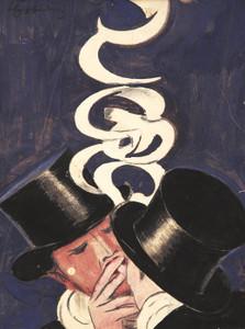 Art Prints of Deux Fumeurs, Maquette by Leonetto Cappiello