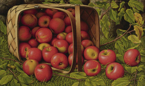 Art Prints of Basket of Apples by Levi Wells Prentice