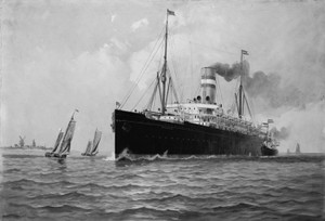 Art Prints of S.S. Ryndam, Historic Passenger Ships