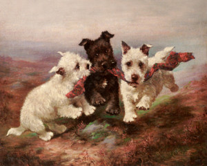 Art Prints of A Highland Fling by Lilian Cheviot