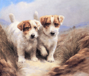Art Prints of Good Friends, Sealyham Terriers by Lilian Cheviot