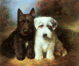A Scottish Terrier and a Sealyham Terrier by Lilian Cheviot | Fine Art Print