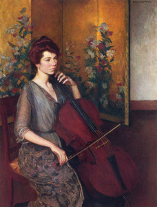Art Prints of The Cellist by Lilla Cabot Perry