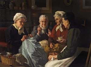 Art Prints of The Sewing Circle by Louis Charles Moeller