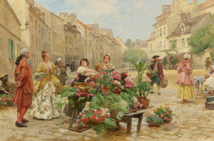 Art Prints of Eighteenth Century Market by Louis Marie de Schryver