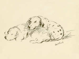 Art Prints of Scar and Julie, Dalmatians by Lucy Dawson