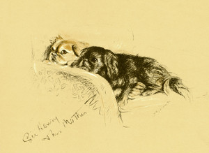 Art Prints of Sir Henry and His Mother, Pekingese by Lucy Dawson