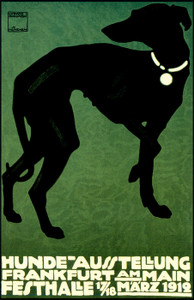 Art Prints of Hunde Ausstellung Whippet (b1203) by Ludwig Hohlwein
