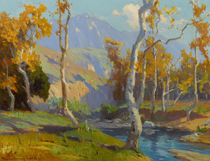 Art Prints of Santa Anita Creek by Marion Kavanaugh Wachtel