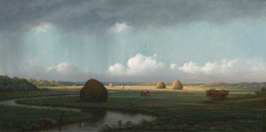 Art Prints of Sudden Shower, Newbury Marshes by Martin Johnson Heade