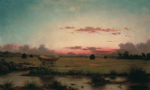 Art Prints of The Marshes at Rhode Island by Martin Johnson Heade