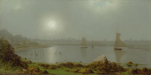 Art Prints of New York Harbor, Coast of Maine, 1877 by Martin Johnson Heade