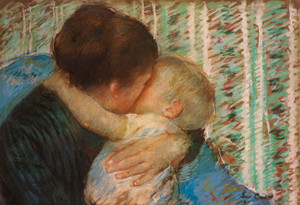 Art Prints of A Goodnight Kiss by Mary Cassatt