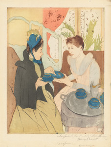Art Prints of Afternoon Tea Party by Mary Cassatt