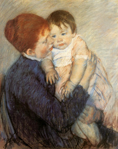 Art Prints of Agatha and Her Child by Mary Cassatt