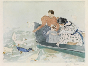 Art Prints of Feeding the Ducks by Mary Cassatt