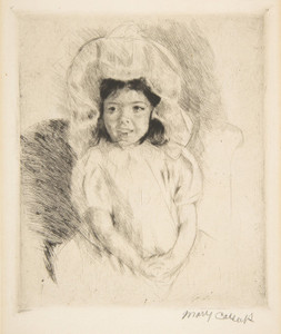 Art Prints of Margot Wearing a Bonnet by Mary Cassatt