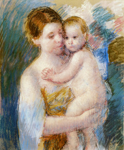 Art Prints of Mother Holding Her Nude Child by Mary Cassatt