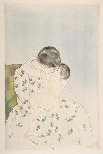 Art Prints of Mother's Kiss by Mary Cassatt
