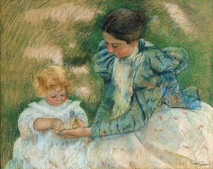 Art Prints of Mother Playing with Child by Mary Cassatt