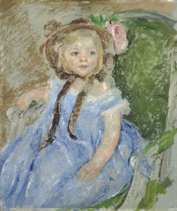 Art Prints of Sara in a Dark Bonnet by Mary Cassatt