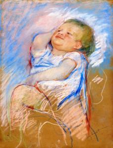Art Prints of Sleeping Baby by Mary Cassatt