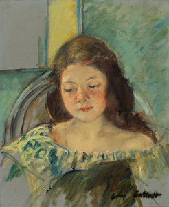 Art Prints of Study for Francoise in a Round Backed Chair Reading by Mary Cassatt