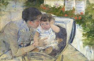 Art Prints of Comforting the Baby by Mary Cassatt