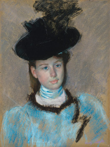 Art Prints of The Black Hat by Mary Cassatt