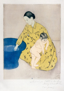 Art Prints of The Child's Bath, 1890 by Mary Cassatt